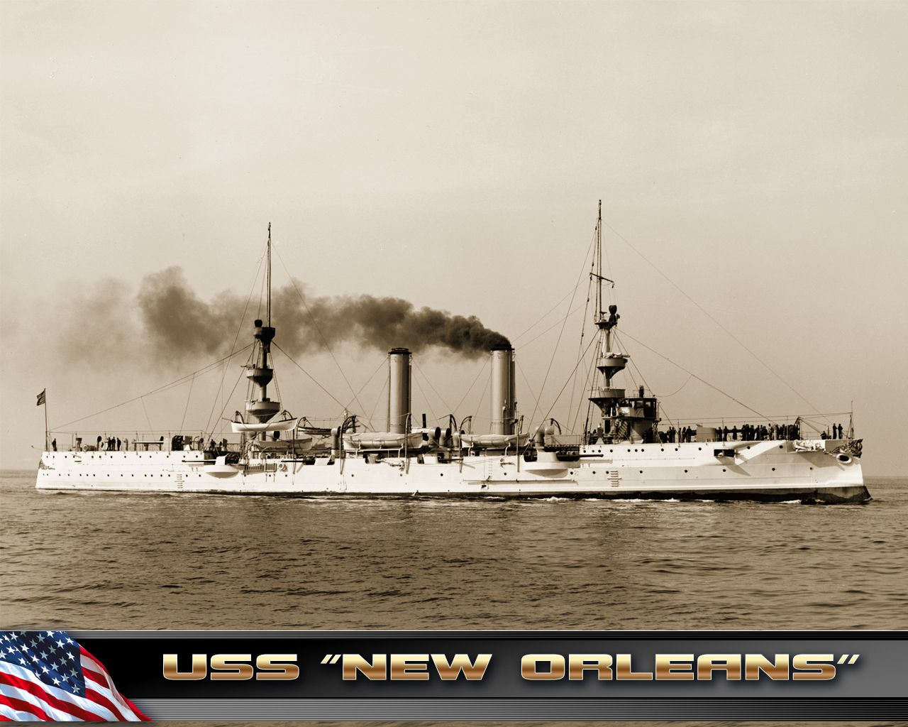 USS NEW ORLEANS light cruiser 1898