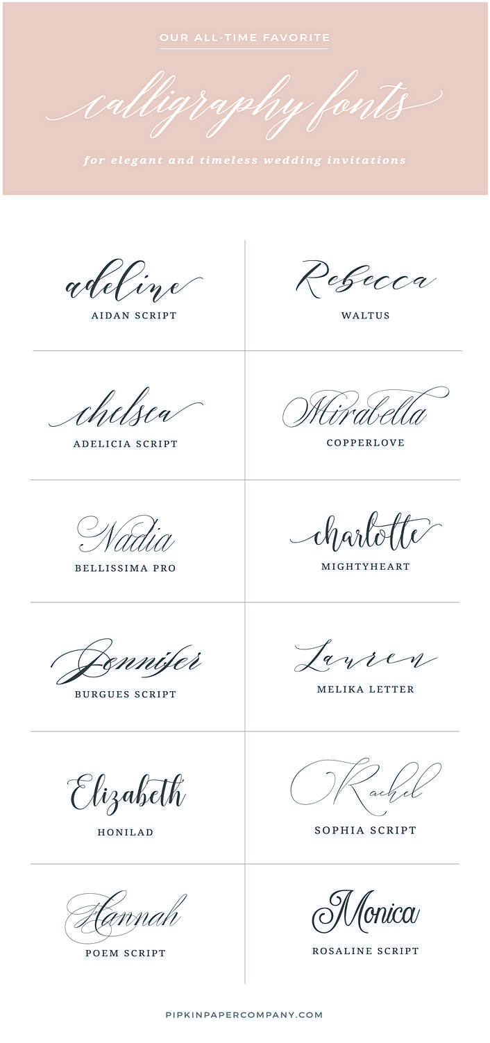 wedding invitation fonts- All the nice things you want to say in ...