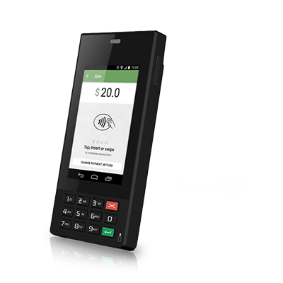 WisePOS 2 0 Android 7 0, 4G, WiFi, BT, barcode, mag, NFC