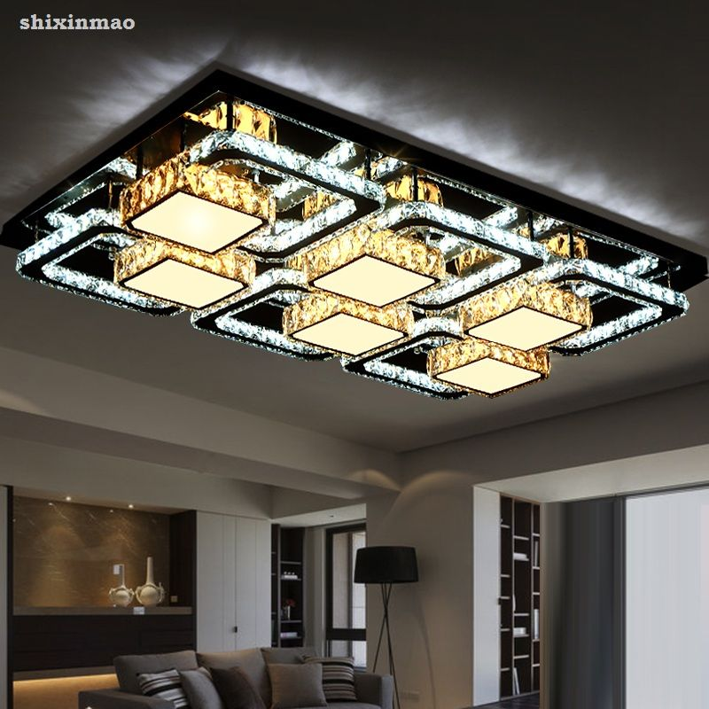Shixinmao Modern Ultra Bright Led Living Room Ceiling Lamps Crystal Lighting Home And Commercia Bathroom Ceiling Light Ceiling Lights Modern Bathroom Lighting