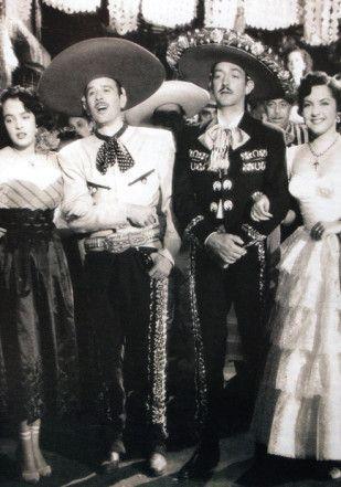 Ismael Rodríguez, Pedro Infante y Jorge Negrete en Dos tipos de cuidado .(Foto