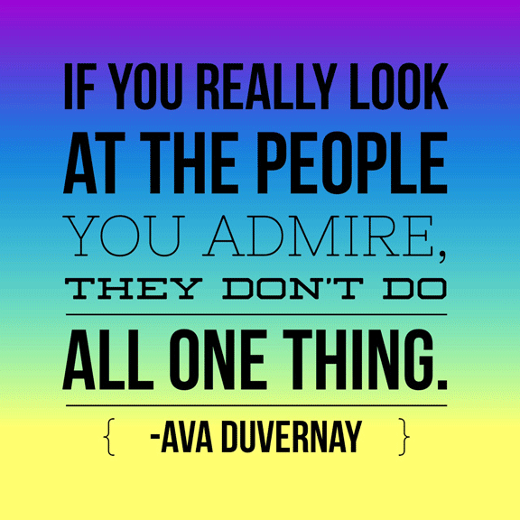 Advice of the day: Always listen to Ava Duvernay. Quote via @BlogHer: http://bit.ly/1MGghku