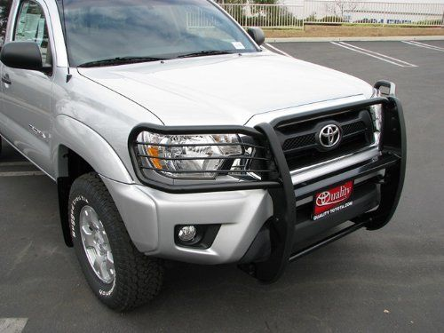 Factory Skid Plate Need To Be Remove If Equipped MaxMate Premium Black Grille Bumper Brush Guard Bull Bar #T75198 Custom Fit 05-15 Toyota Tacoma