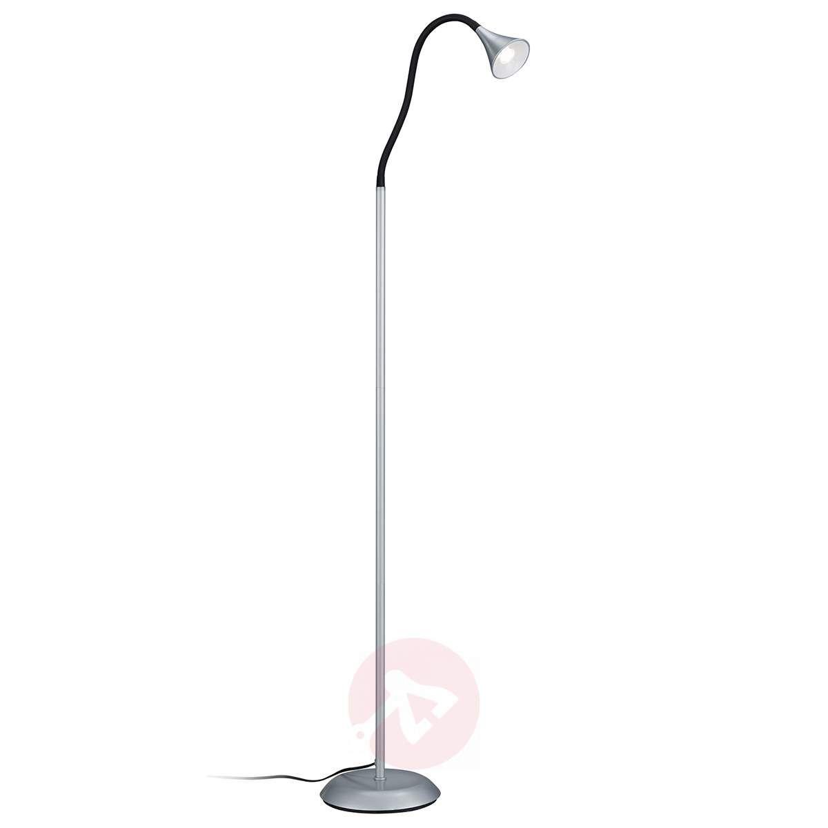 Wykonana Z Metalu Srebrna Lampa Stojąca Led Viper In 2019
