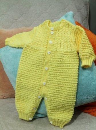 Комбинезон для новорожденных вязание на спицах схема описание