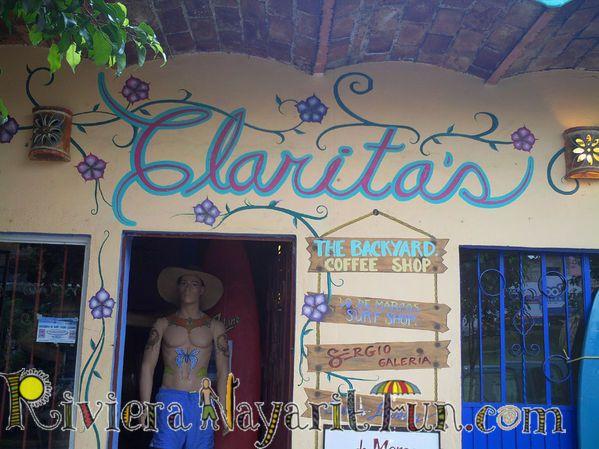 Lo De Marcos Mexico Clarita Restaurant In Lo De Marcos Mexico Riviera Nayarit Galleries Mexico Neon Signs Backyard