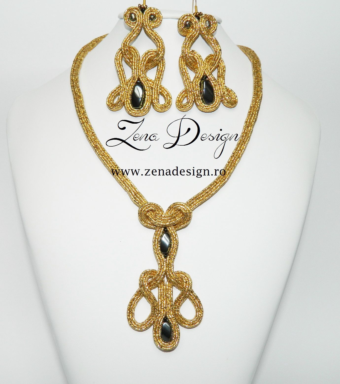 Zena Design - Soutache handmade jewelry!  Www.zenadesign.ro