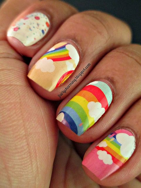 Rainbow Stickers Rainbows Nail Nail And Makeup