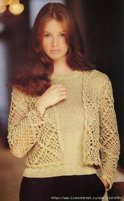 Crochetemoda: Casaqueto de Crochet | Cardigan De Crochê | Pinterest ...