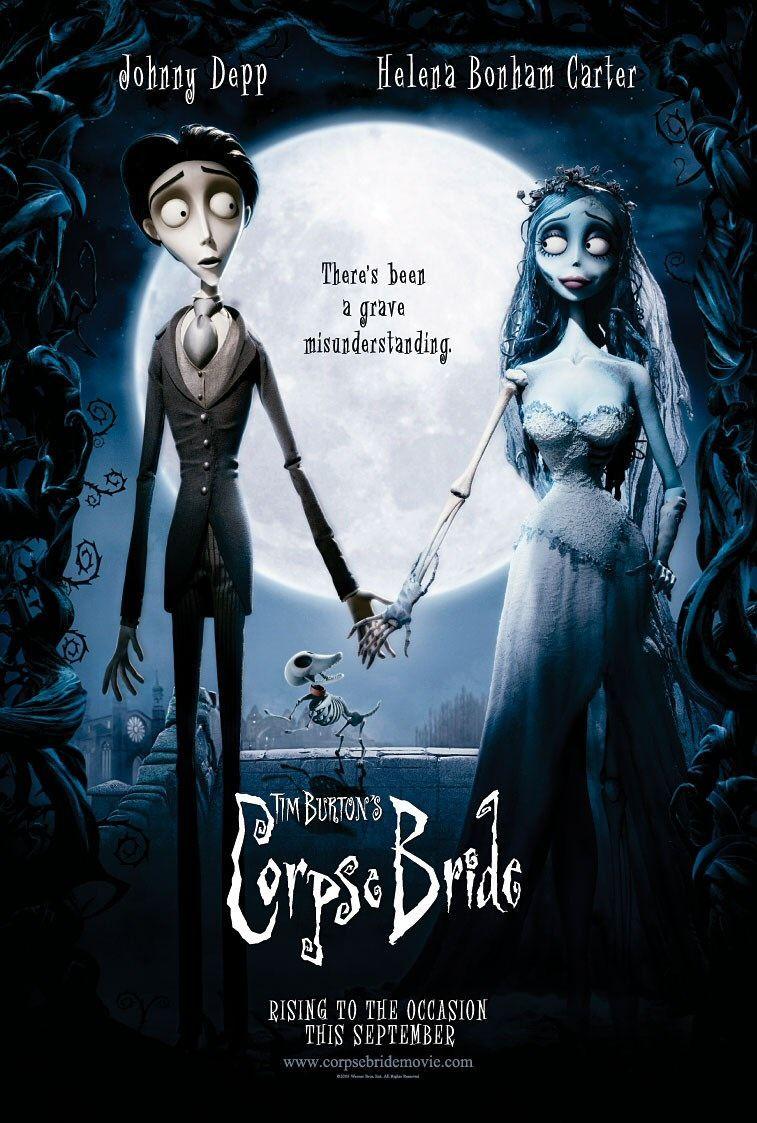 Corpse Bride (2005) a film by Mike Johnson and Tim Burton + MOVIES + Johnny Depp + Helena Bonham Carter + Emily Watson + Tracey Ullman + Paul Whitehouse + cinema + Animation + Fantasy + Musical