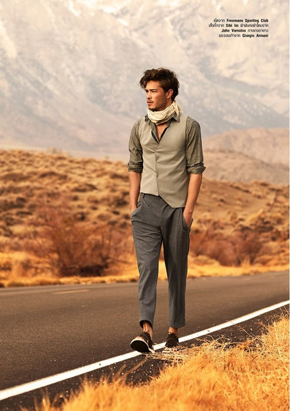 Francisco Lachowski For Harpers Bazaar Men Thailand With The Desert Concept