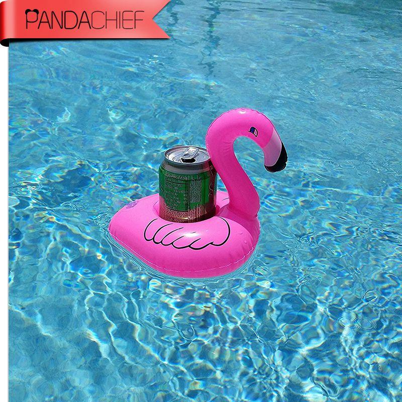 2017 Nowy 1 Sztuk/partia Mini Cute Pink Flamingo Pływający