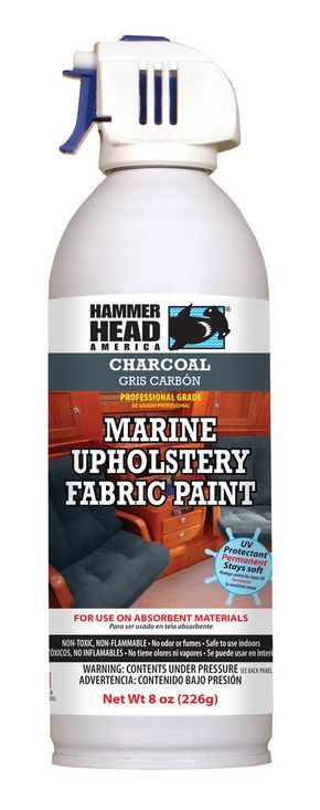 DON'T REPLACE IT - SPRAY IT NEW! Upholstery fabric paint is just the thing for adding a durable new color to your upholstered watercraft. Upholstery fabric paint goes on easily and dries without any o