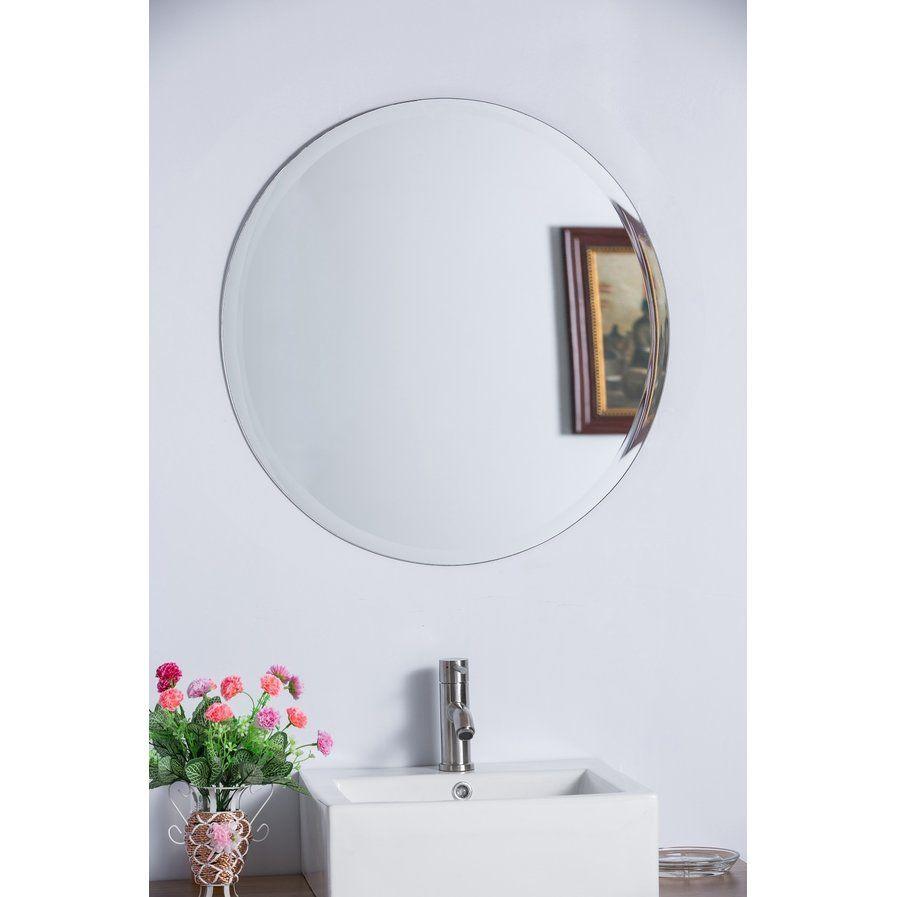 frameless mirrors for bathrooms. Bathroom Vanities · Valtierra Round Frameless Mirror Mirrors For Bathrooms R