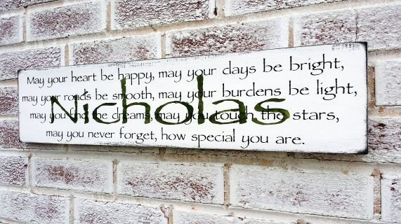 Customized Irish Blessing Proverb Quote Sign Baby Boy S Nursery