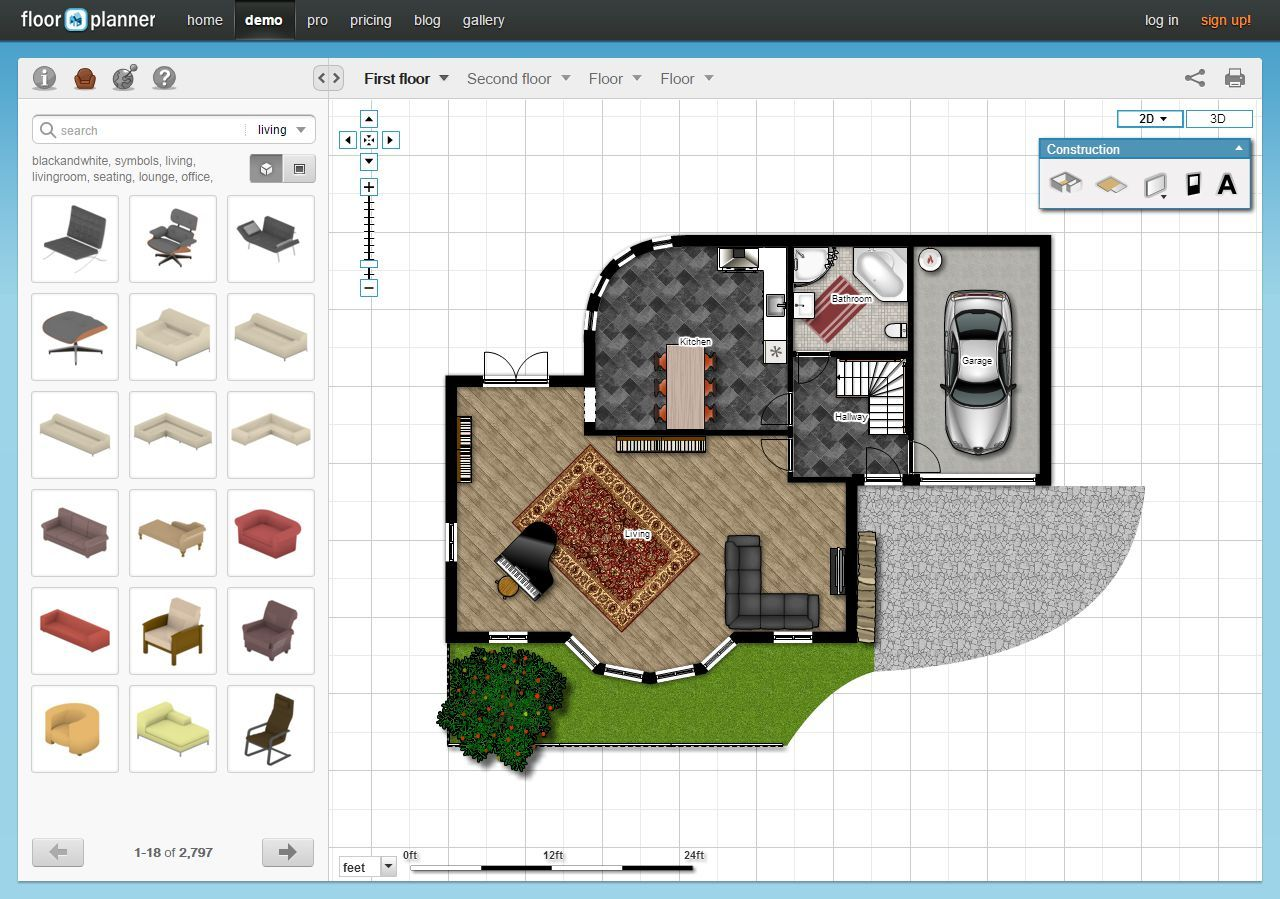 5 Free Online Room Design Software Applications Floor Planner Room Design Software Bedroom Furniture Layout