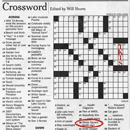 A Clue To Start Your Crossword Broadway Shows Ticket Booth Text