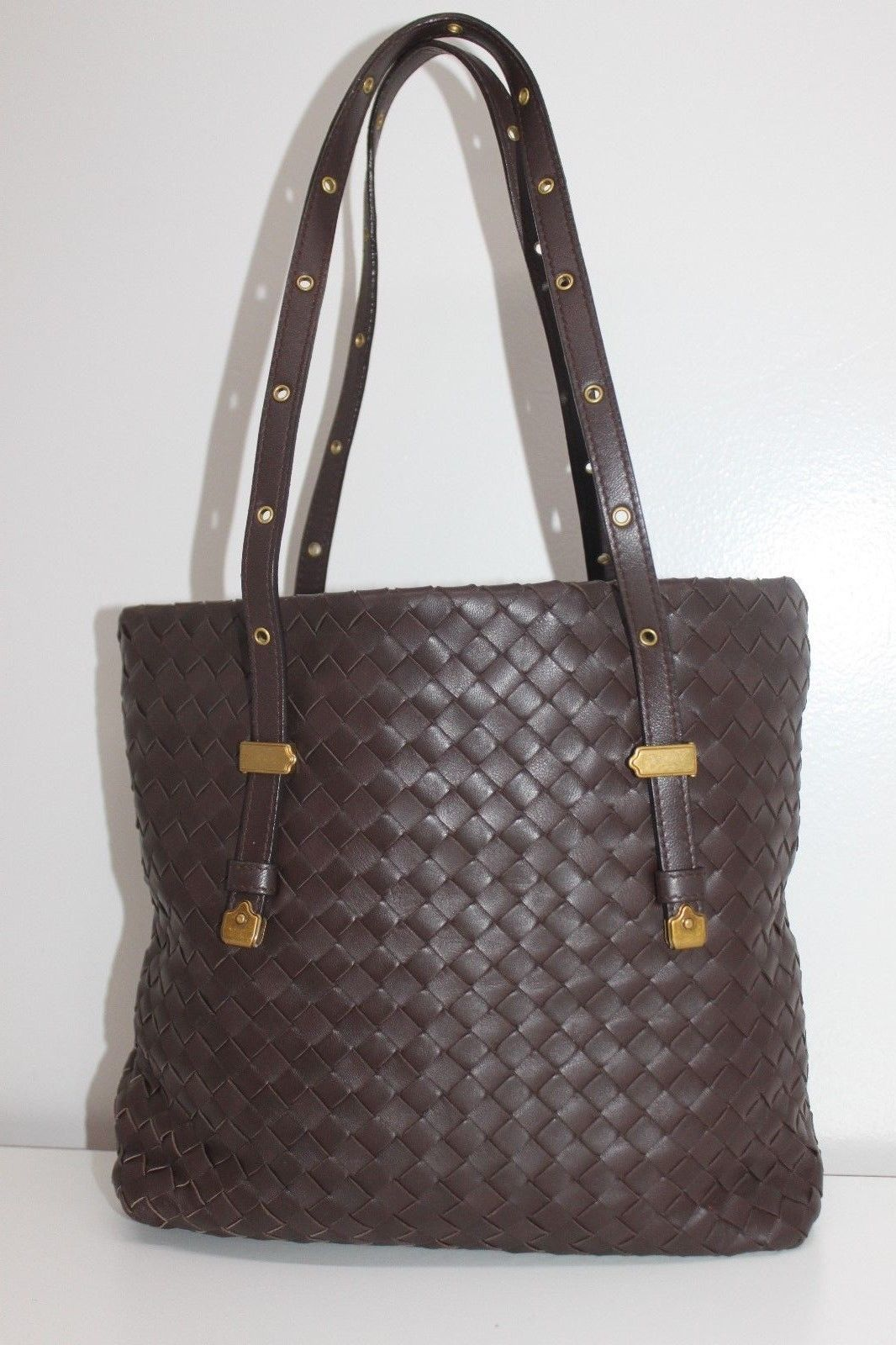Details about AUTHENTIC BOTTEGA VENETA Intrecciato Leather Tote Bag ... fd0cb2c93bfbe