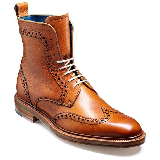 b3bf99c46fc3 Handmade Tan High Ankle Rounded Cap Toe Genuine Leather Lace up Boots for  Men s - Boots