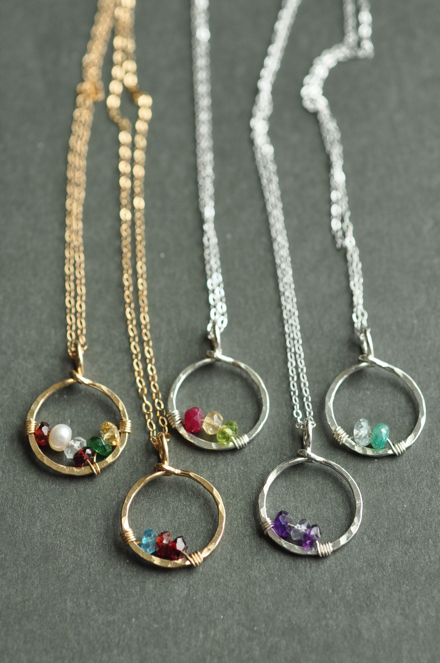circle of love birthstone necklaces simple and timeless. Black Bedroom Furniture Sets. Home Design Ideas