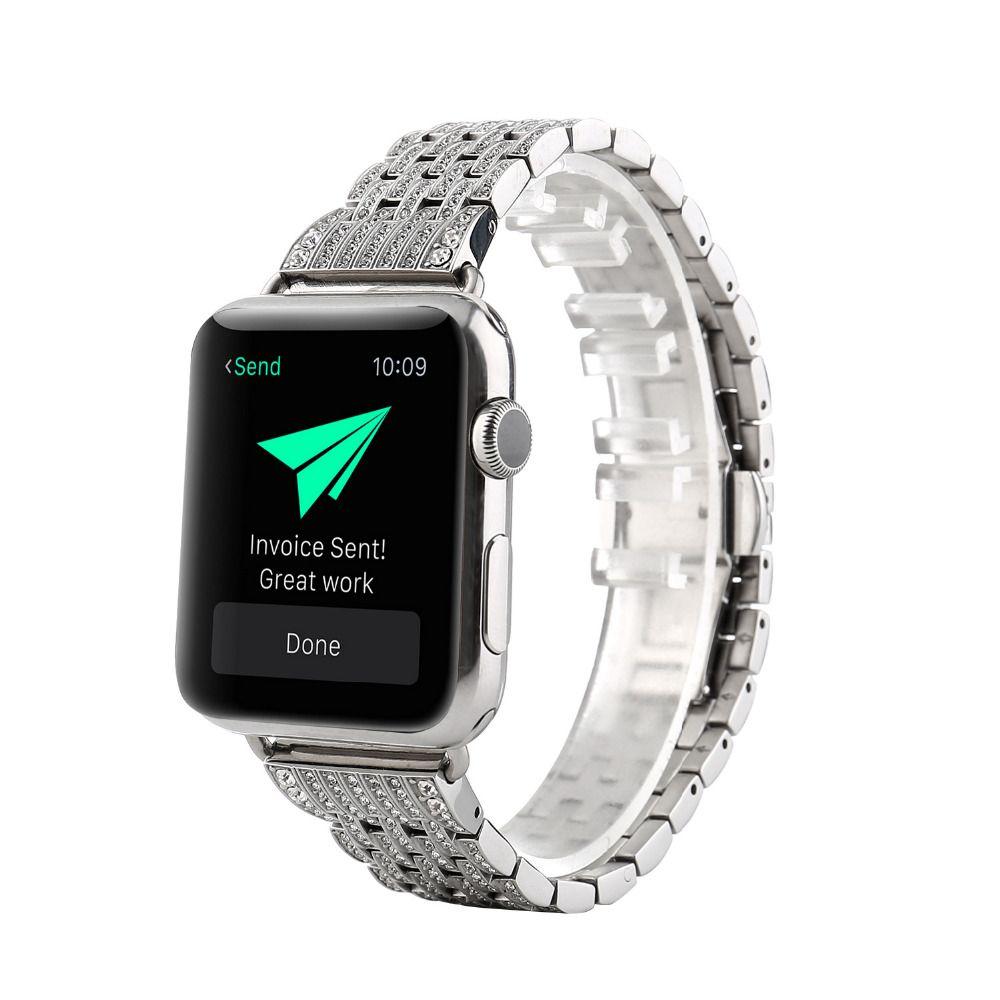 Apple Watch Series 5 4 3 2 Band, Diamond Stainless Steel