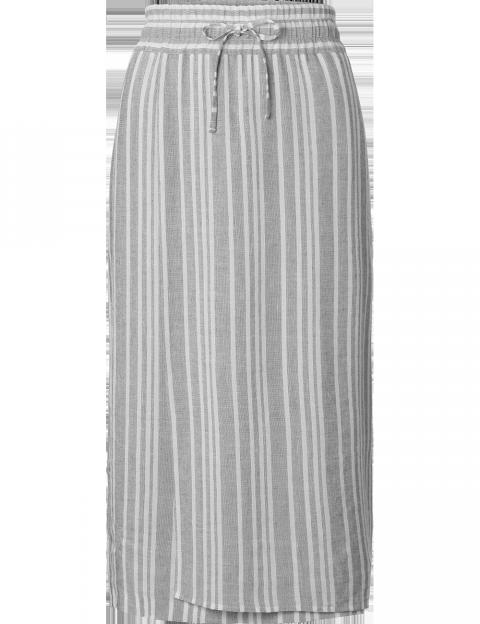 Purdey lange overslag rok streep grijs