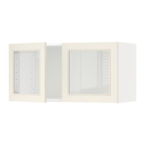 Metod Wall Cabinet With 2 Gl Doors White Hittarp Off