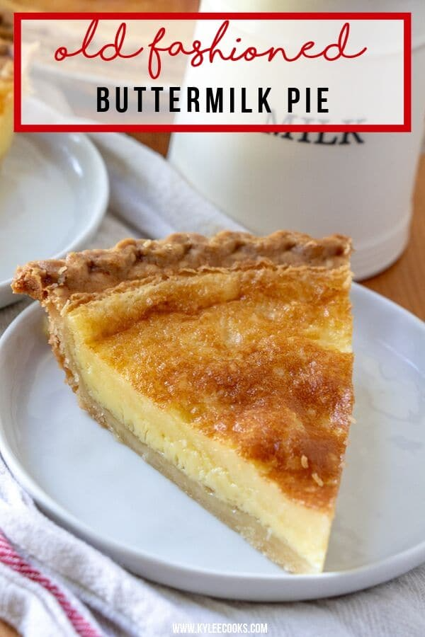 This Traditionally Southern Buttermilk Pie Is Simple To Make And Pleases The Whole Family A Flaky Pie Crust In 2020 Easy Pie Recipes Buttermilk Pie Buttermilk Recipes
