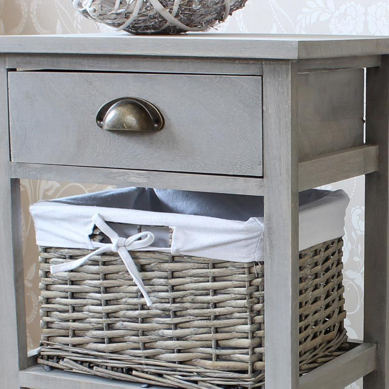 Perfect Vintage Grey Range One Drawer With Two Wicker Baskets Tall Storage Unit    Grey   Pinterest