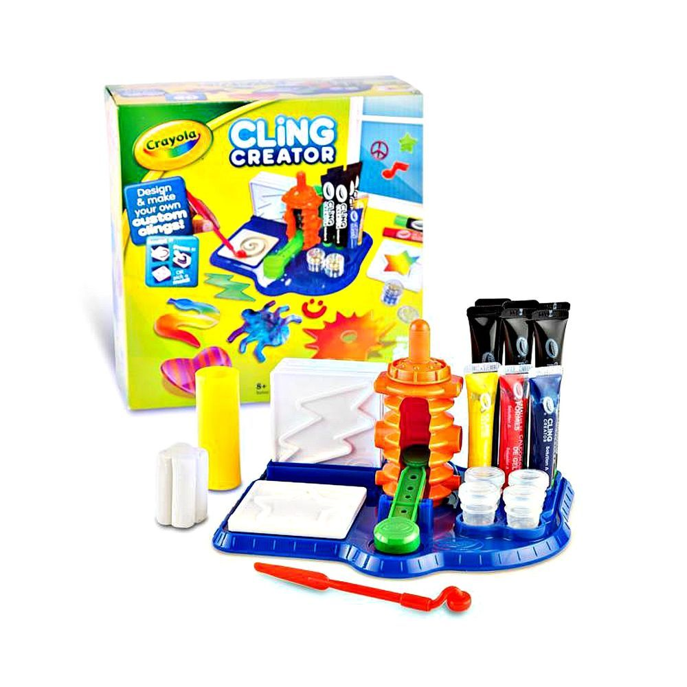 Crayola Cling Creator Art Activity Make up to 20 Customized Clings ...