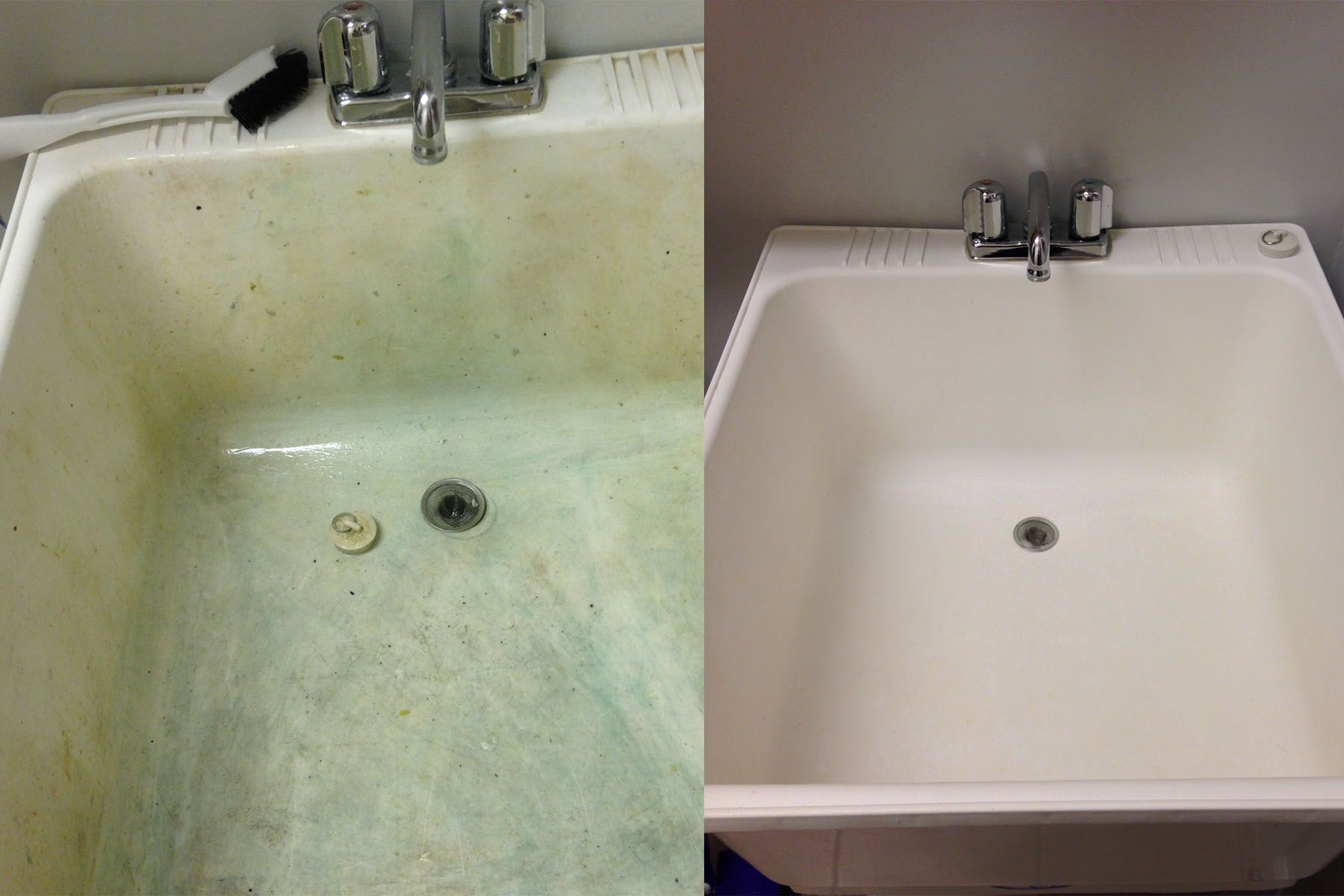 Cleaning Laundry Sink I Tried Everything To Get Sink Clean