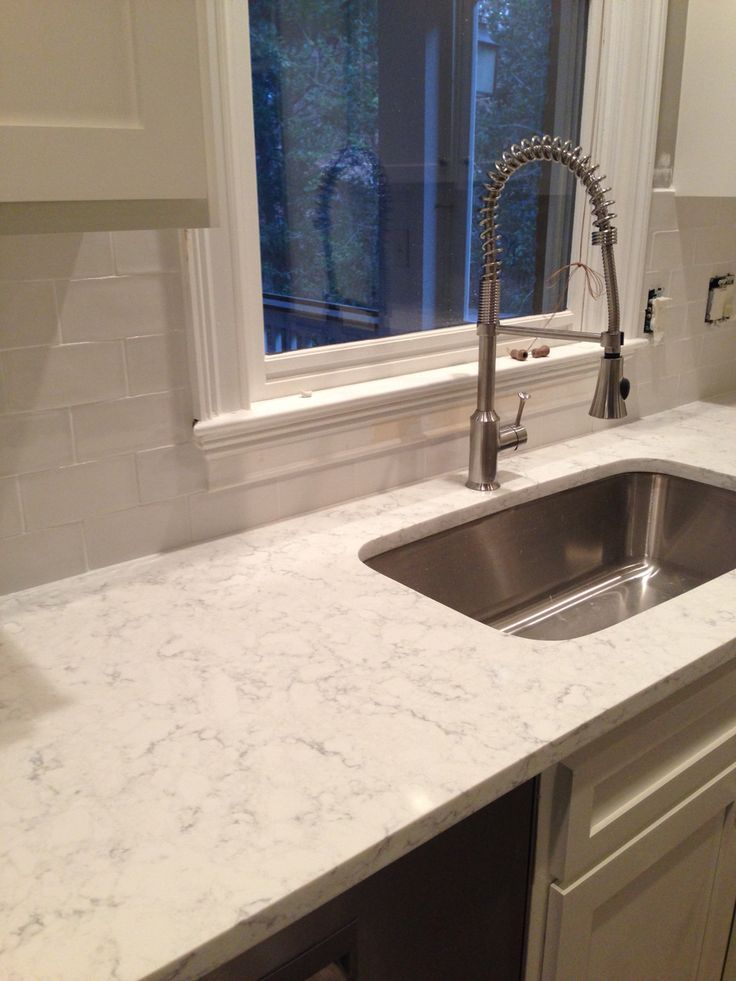 Minuet quartz with white dove cabinets google search Backsplash ideas quartz countertops