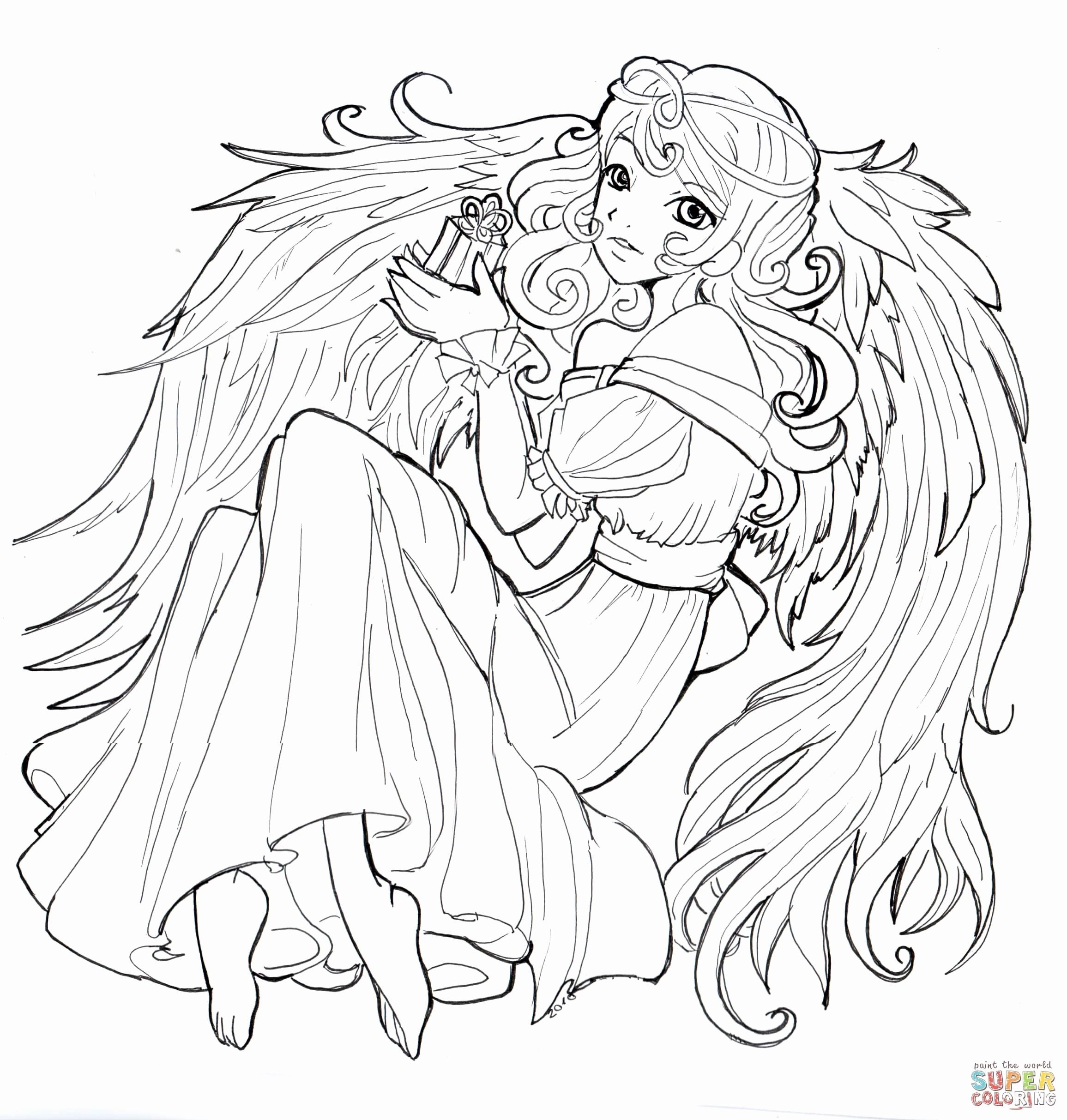 Anime Christmas Coloring Pages Awesome Merry Christmas and Happy