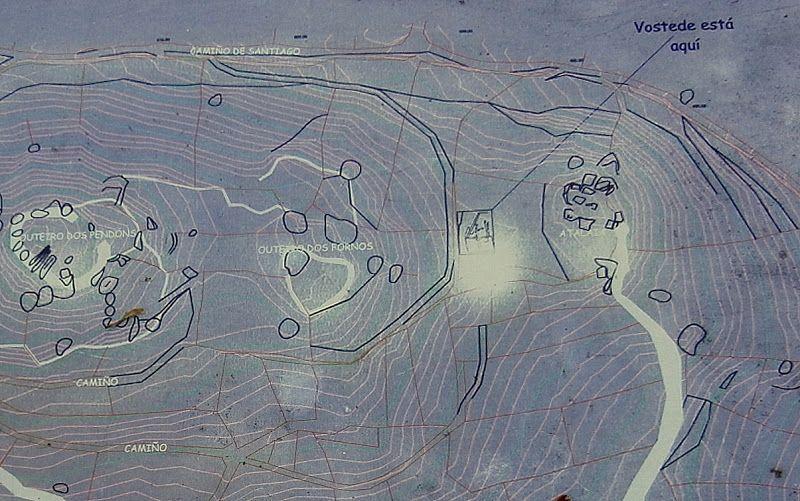 1000 Lugares En Galicia Santa Mariña De Augas Santas En Allariz Parte 4 El Castro De Armeá Santa Marina Ruta De La Plata Calzada Romana