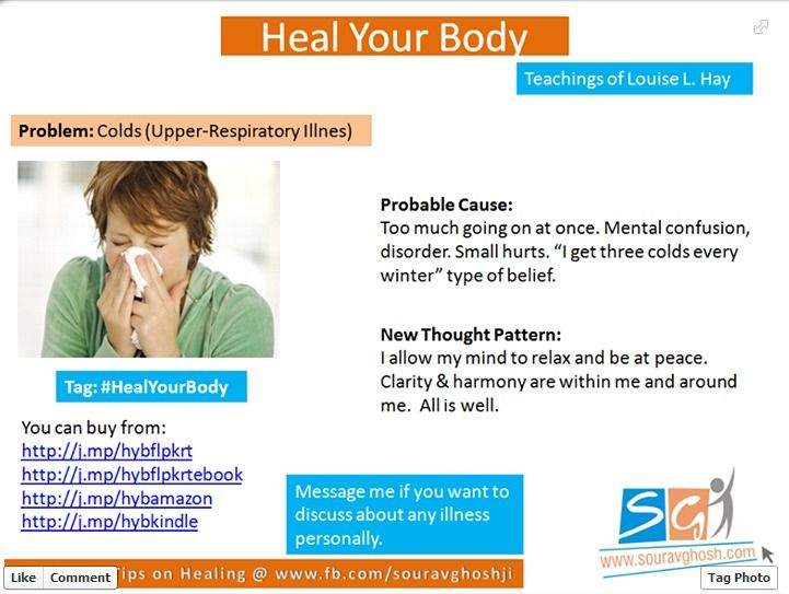 What if you could heal your cold ( Upper -Respiratory Illness) by changing your thought pattern?