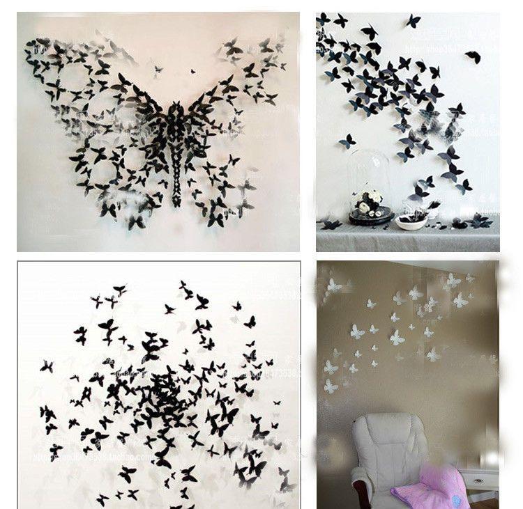 3d Butterfly Wall Sticker Decor Pop Up Sticker Home Room