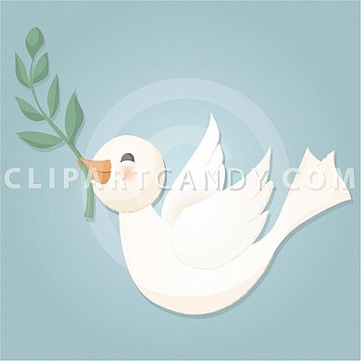 white dove flying and holding olive branch peace clip art image