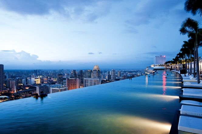 Singapore Swimming Pool At Marina Bay Sands Sky Park Une Vue