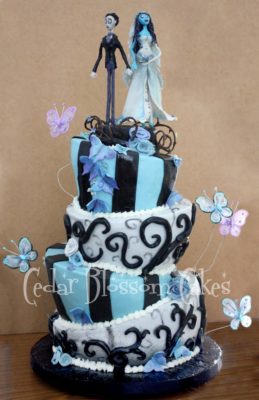 corpse bride wedding dress Tim Burton s Corpse Bride Wedding Cake by Cedar