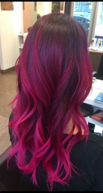 21 Ideas Hair Color Purple Ombre Magenta -   8 hair Purple morena ideas
