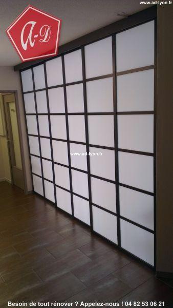 combinaisons de panneaux japonais cloison japonaise coulissante et porte pinterest divider. Black Bedroom Furniture Sets. Home Design Ideas