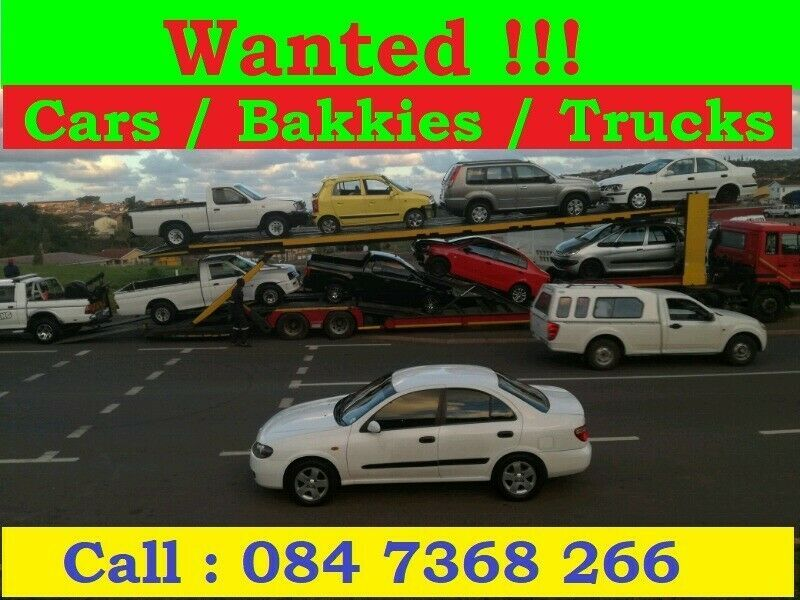 We Come out to you anywhere in KZN and buy your vehicle We