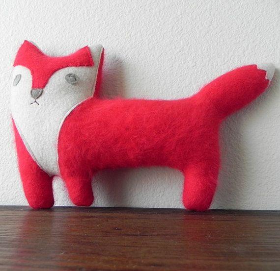Eleven the Fox  Plush Wool Pillow by threebadseeds on Etsy, $ 44.00