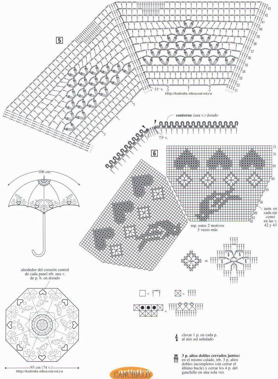 Pin de Nataliya Suryna en Crochet Umbrella | Pinterest