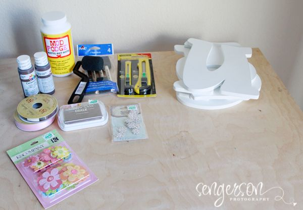 Diy Nursery Letters Baby And Mod Podge Personalized