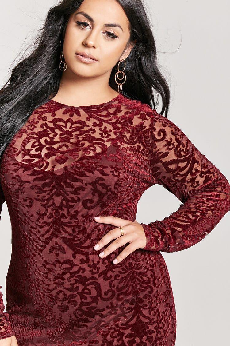 Plus size sheer velvet dress devoré pinterest st