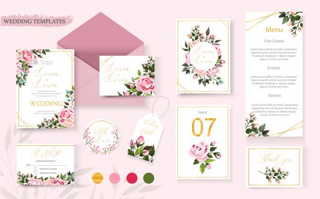 Template Undangan Pernikahan Imut Dan Lucu Undangan Pernikahan Kartu Undangan Pernikahan Pernikahan Bunga