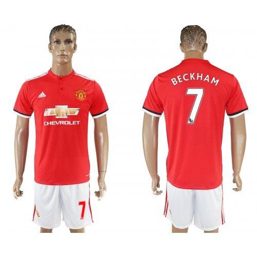 2017-18 Football Kit Manchester United Home 7 Beckham Football Shirt