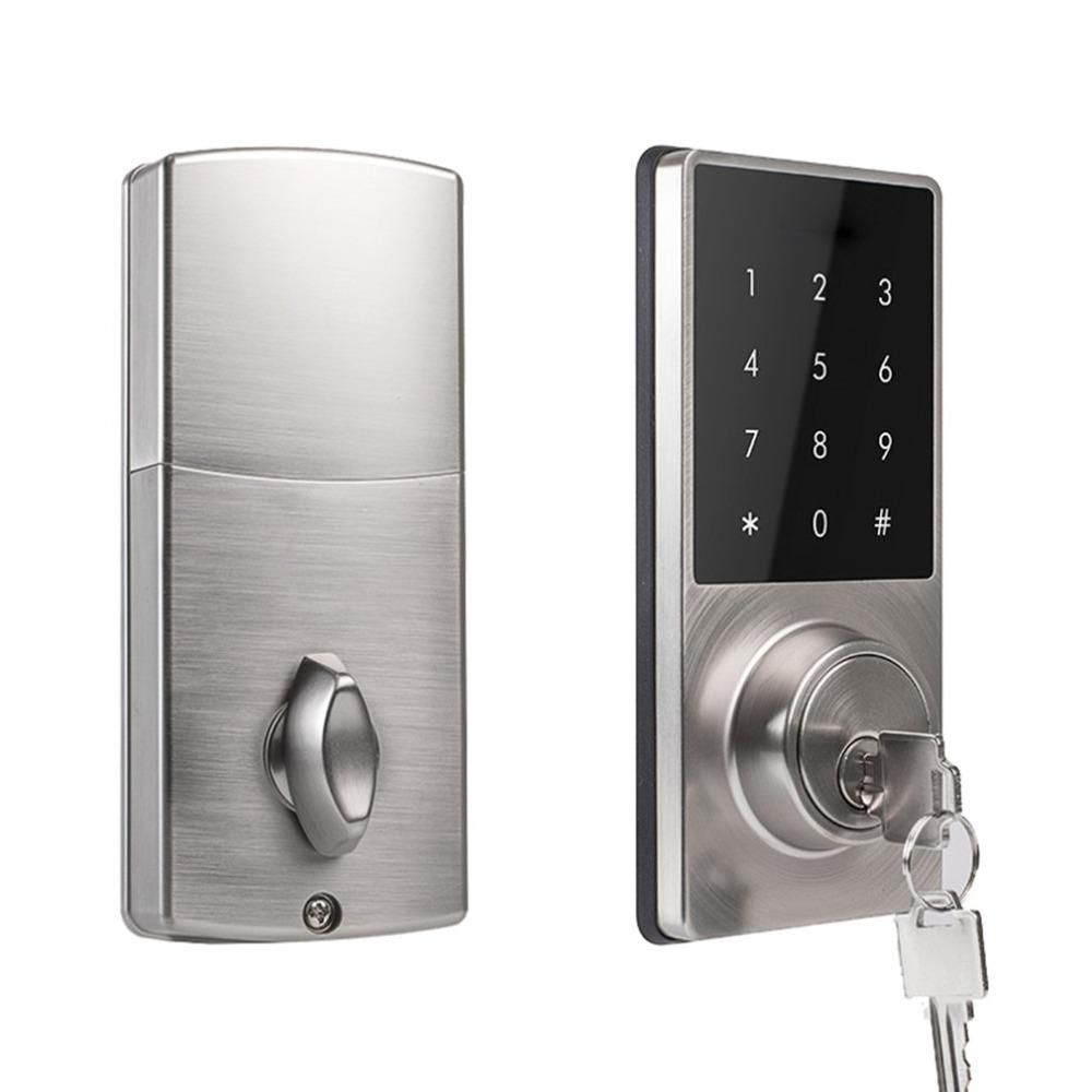 Phone App Control Office Apartment Home Anti Theft Smart Touch Pad Code Lock Security Entry Password Door Lock App Control Smart Door Locks Electric Lock