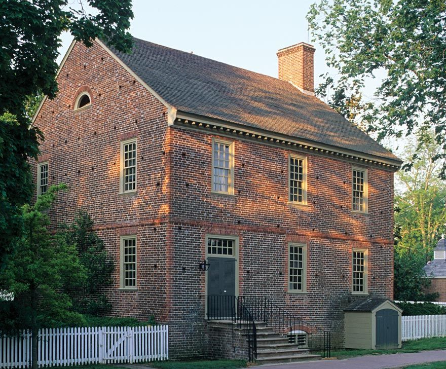 The Restored Palmer House Colonial Williamsburg House Of Burgesses Colonial House